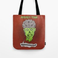 Zombie Brains Tote Bag