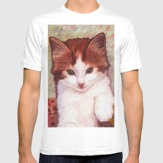 Copper kitten SMALL Mens Fitted Tee White