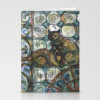 Cats In The Patio. Stationery Cards