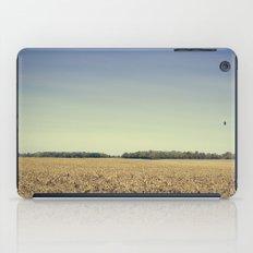 Lonely Field in Blue iPad Case