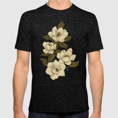 Magnolias Mens Fitted Tee Tri-Black SMALL