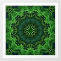 Harmony in Green Art Print