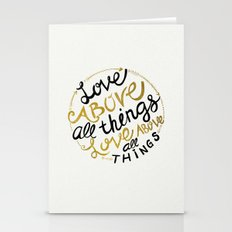 Love Above All Things Stationery Cards