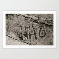 The Who Art Print