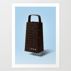 Grater and Coffee Art Print