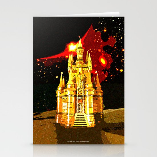 GOLDEN CASTLE-005 Stationery Card