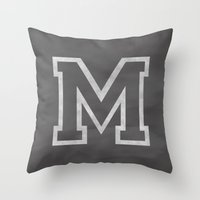 Letter M Throw Pillow