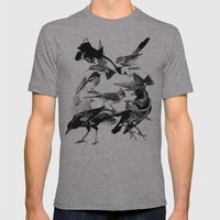 A Volery Of Birds Mens Fitted Tee Athletic Grey SMALL