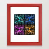 Ghostly Vines Framed Art Print