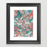 Pastel Explosion Framed Art Print