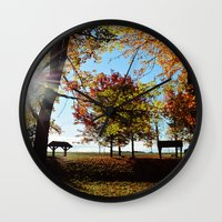 Autumnal sunshine Wall Clock