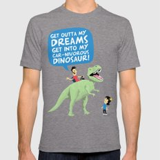 my car-nivorous dinosaur Mens Fitted Tee Tri-Grey SMALL