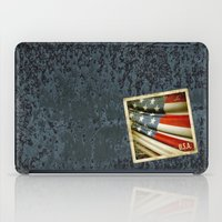 Grunge sticker of United States flag iPad Case