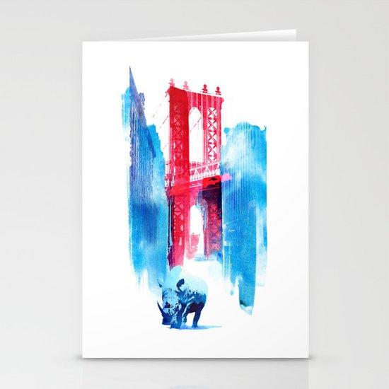 Manhattan bridge Stationery Card