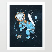 Space Ermine Art Print
