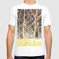 Nature finds the way inside... and outside... Everywhere! Mens Fitted Tee White SMALL