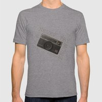 CAMERA Mens Fitted Tee Athletic Grey SMALL