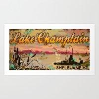 Lake Champlain, Shelburn… Art Print
