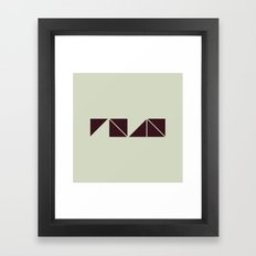 #27 Don't try to read me – Geometry Daily Framed Art Print