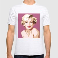 Marilyn Mens Fitted Tee Ash Grey SMALL