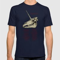 Equus Cornualis Mens Fitted Tee Navy SMALL