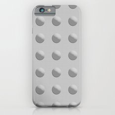 Abstract rivets in gray metal iPhone 6s Slim Case