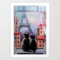 Parisians Art Print