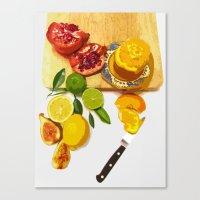 Still Life With Pomegran… Canvas Print