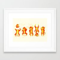 Fire Gang  Framed Art Print