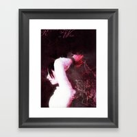 Requiem in White Framed Art Print