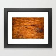 Distressed Wood Texture Framed Art Print