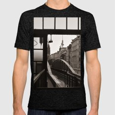 BERLIN TELETOWER - urban landscape Mens Fitted Tee Tri-Black SMALL