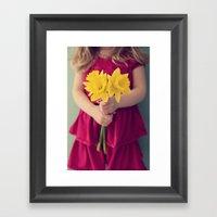Daffodil Girl Framed Art Print