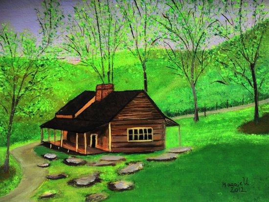 Hillside cabin Art Print