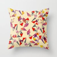watercolour geometric shapes Throw Pillow