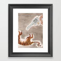 Man-Eating Tiger Framed Art Print