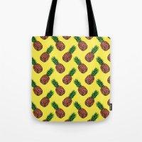 Neo-Pineapple - Mellow Yellow Tote Bag