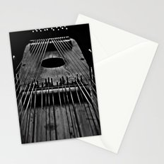 Ukelin Strings B&W Stationery Cards