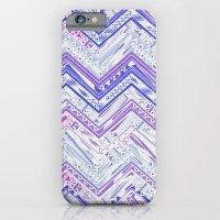 PURPLE ETHNIC CHEVRON iPhone 6 Slim Case