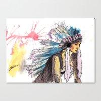 Young Warrior Dreams Canvas Print