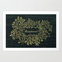 Microfarmer - Gold Art Print