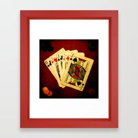 Poker de Jotas (Dirty Poker) Framed Art Print