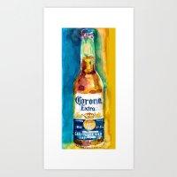 Corona Beer Art Print