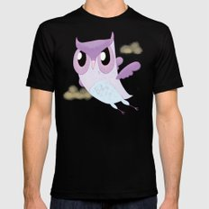 Purple Owl Mens Fitted Tee Black SMALL