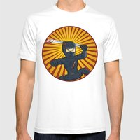 DK Ninja Mens Fitted Tee White SMALL