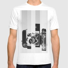 Perception SMALL White Mens Fitted Tee