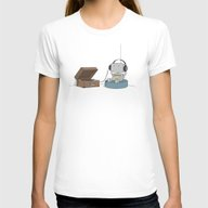 Little Robot  Womens Fitted Tee White MEDIUM