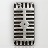 Vintage Microphone iPhone & iPod Skin