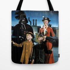 Darth Vader in Mary Poppins Tote Bag