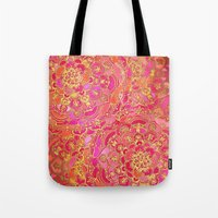 Hot Pink And Gold Baroqu… Tote Bag